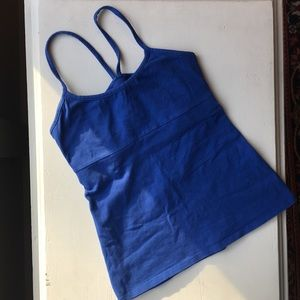SOLOW sport strappy blue yoga top - small
